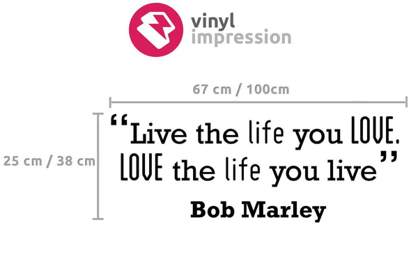 Love' Motivational Quote Wall Sticker in  by Vinyl Impression