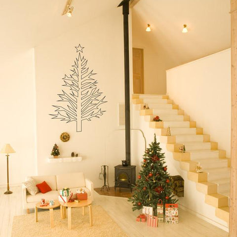Christmas tree wall sticker decoration.