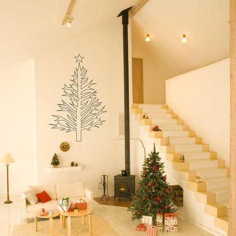 Christmas tree wall sticker decal for home decorations