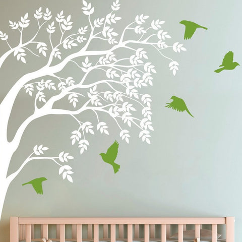 Branch and birds, Wall Stickers -  by vinyl impression
