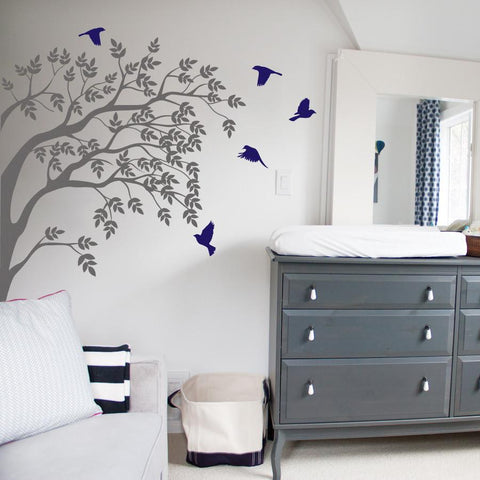 Branch and birds, Wall Decal -  by vinyl impression
