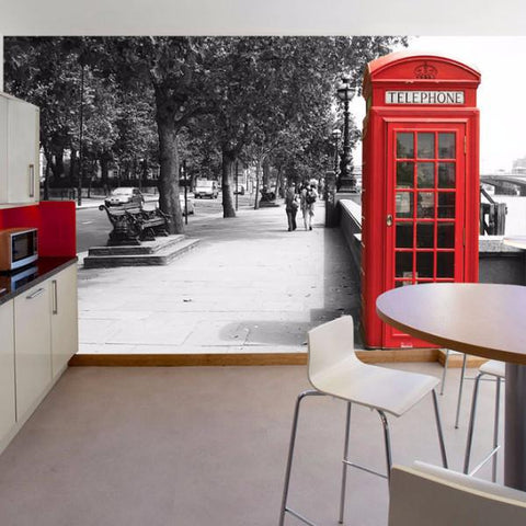 British phone box mock up