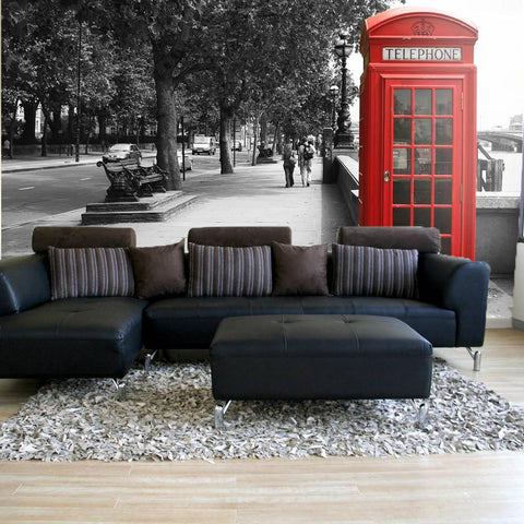 Wall Stickers - British Telephone Wall Mural - By Vinyl Impression