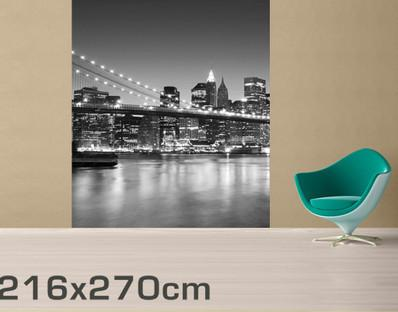 Brooklyn Bridge Mural in Wall Covering by Vinyl Impression
