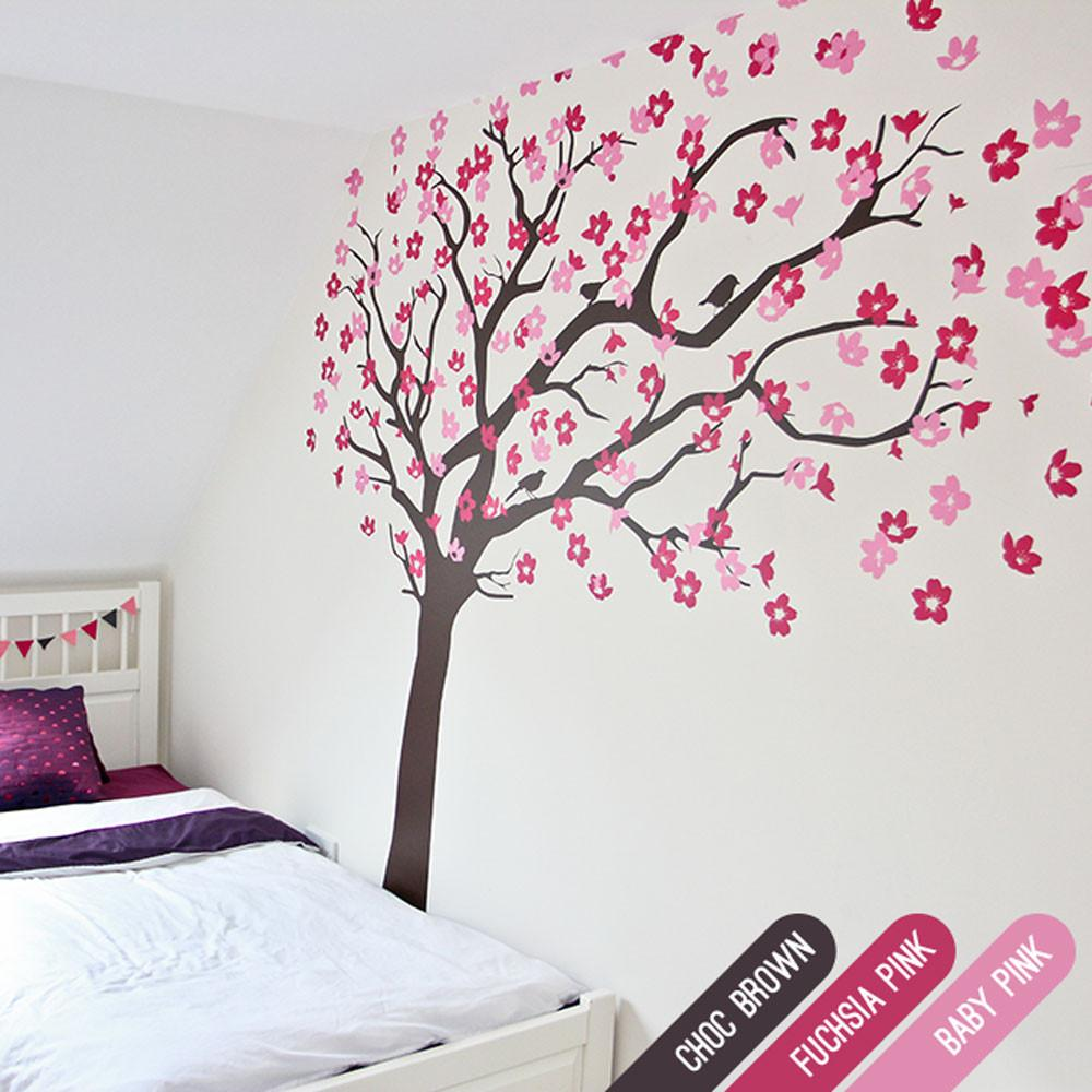 ... Cherry Blossom Tree With Birds In By Vinyl Impression ... Part 17