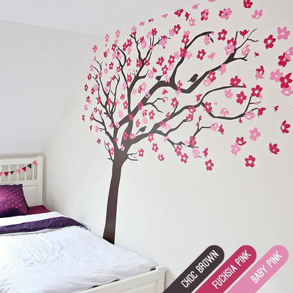 Cherry Blossom Tree with Birds in Nature by Vinyl Impression