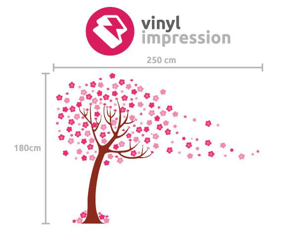 Children's Tree with blossom Vinyl Wall Sticker in Boys Room by Vinyl Impression