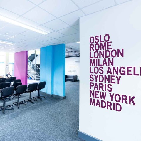 City Names Wall Sticker