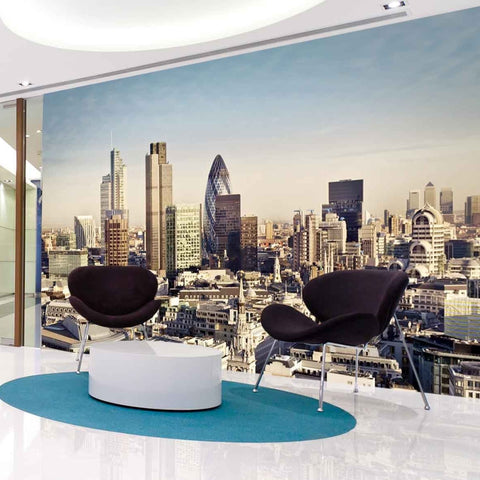 City of london wall mural mock up