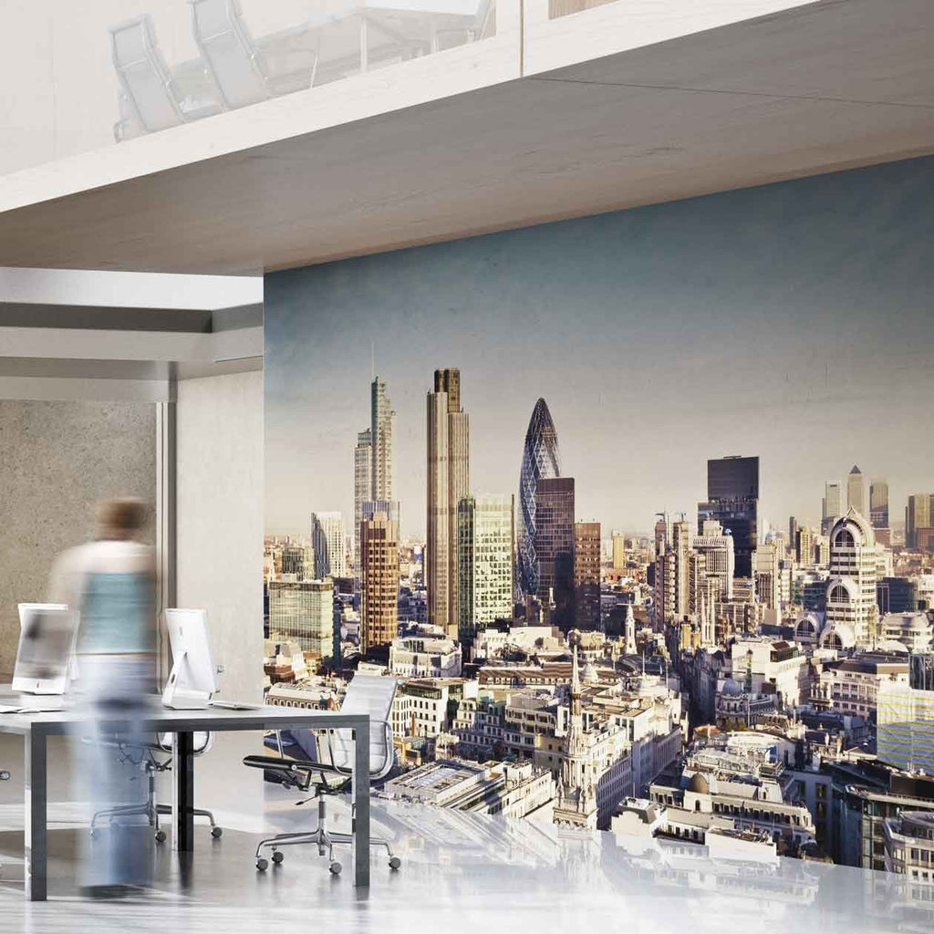This city scape of londons skyline is the perfect photo mural for city of london wall mural in by vinyl impression amipublicfo Images