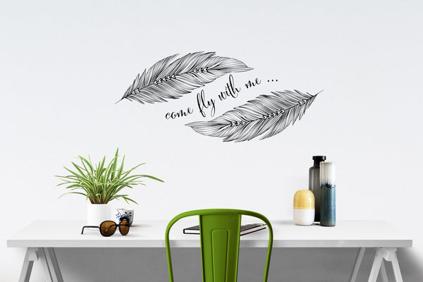Come fly with me wall sticker in Popular by Vinyl Impression