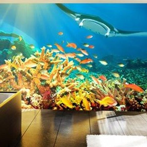 Adhesive photo wall murals put a photo on the wall self for Coral reef mural