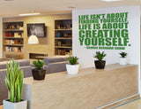 Creating Yourself Office Wall Sticker in  by Vinyl Impression