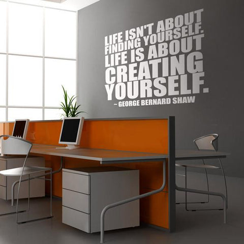 Creating yourself quote office mockup