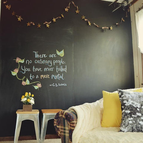Blackboard wall sticker Wall art by Vinyl Impressions