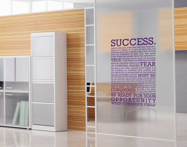 The definition of success Wall Sticker in Office by Vinyl Impression