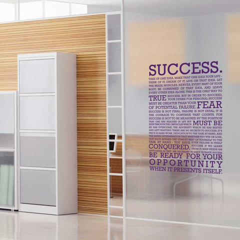 Definition of success mock up