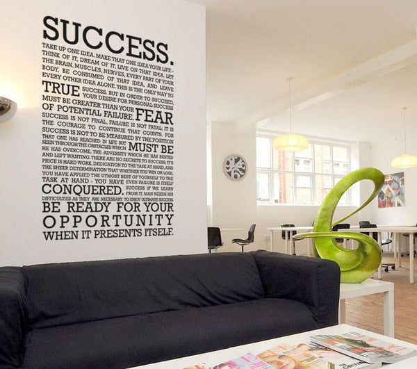 The definition of success Wall Sticker in  by Vinyl Impression