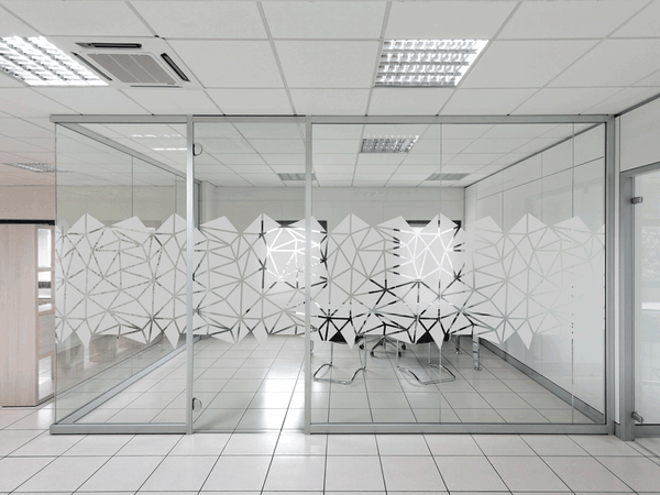 geometric triangles pattern Window Film in Office by Vinyl Impression