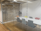 Diagonal Lines Window Film in Office by Vinyl Impression