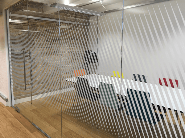 Diagonal Lines Window Film in  by Vinyl Impression