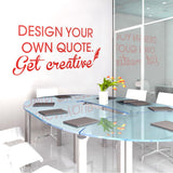 Design a quote Wall Sticker! in  by Vinyl Impression