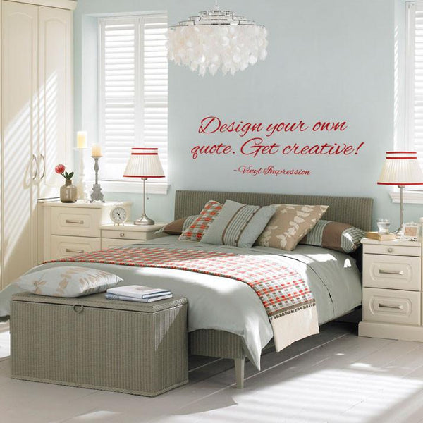 Design a quote Wall Sticker! in Bestsellers by Vinyl Impression