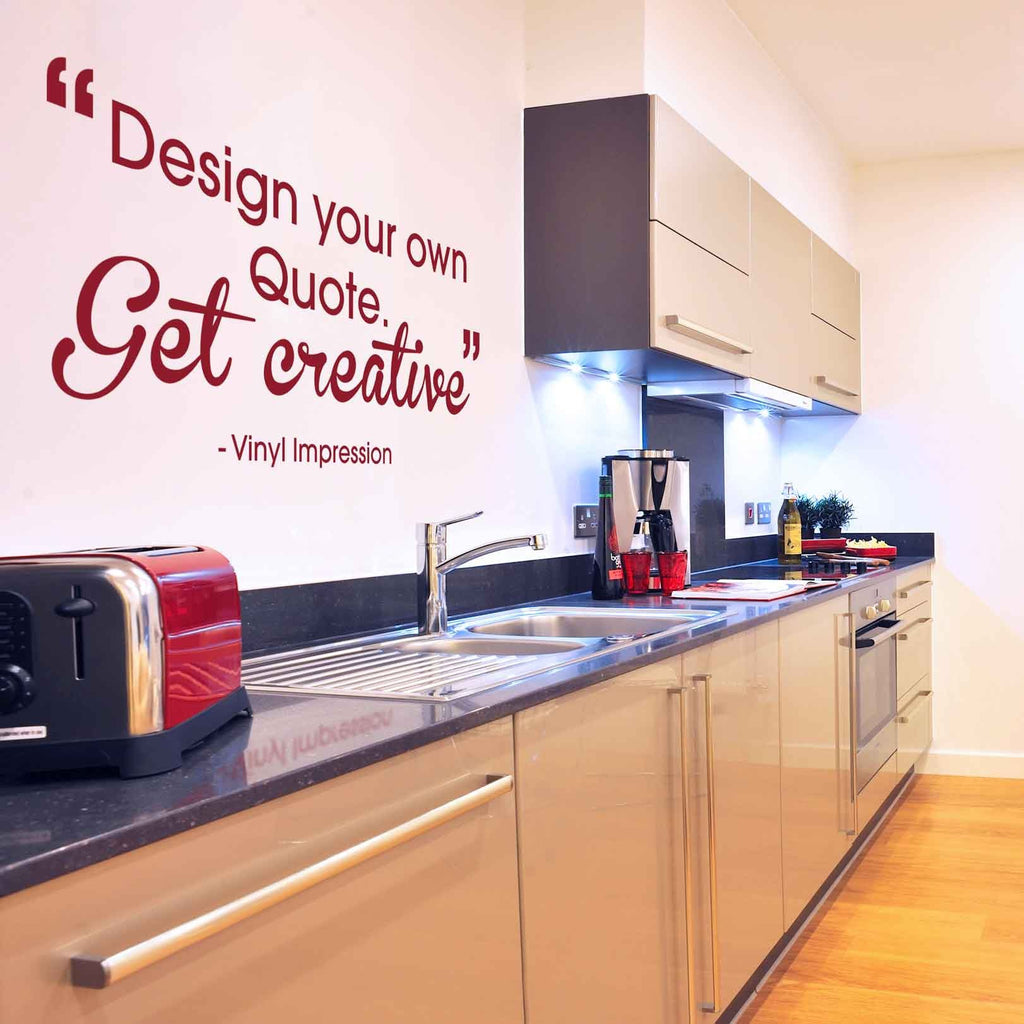 design a quote wall sticker in by vinyl impression
