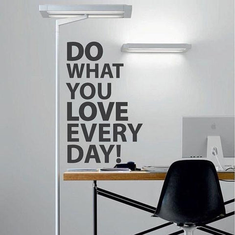 do what you love typographic wall sticker decal graphic