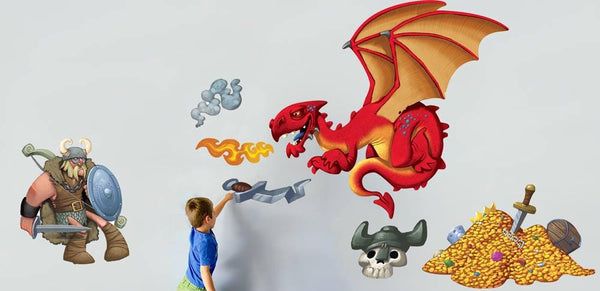 Dragon Hunter wall sticker in  by Vinyl Impression