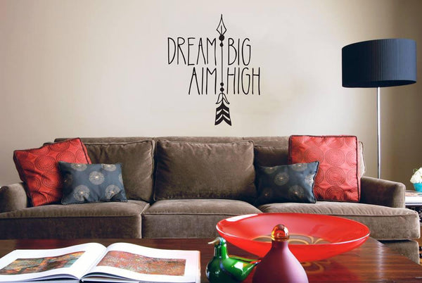 Dream big!' inspirational wall sticker in Home by Vinyl Impression