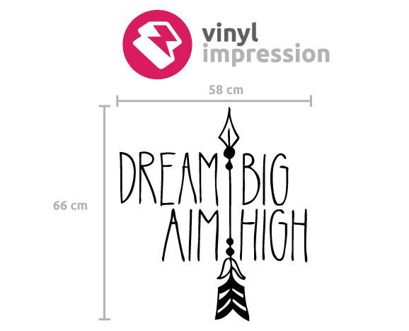 Dream big!' inspirational wall sticker in  by Vinyl Impression