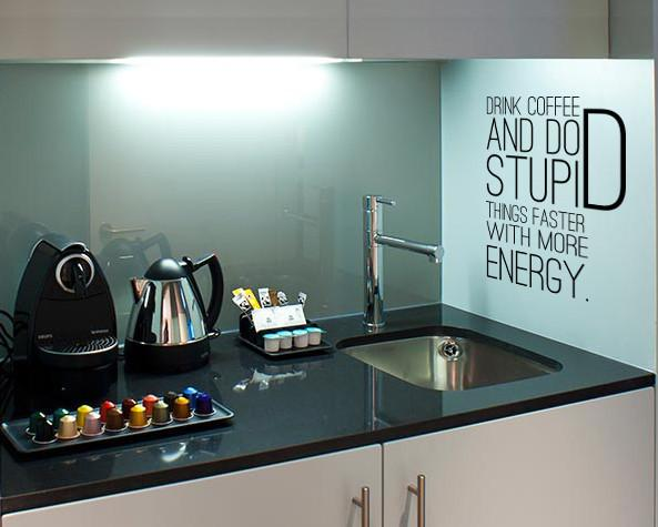 Drink coffee wall sticker in  by Vinyl Impression