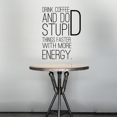 Drink coffee vinyl wall sticker for interior design