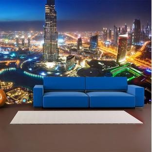 Wall Sticker - Dubai Marina Mural - by vinyl impression