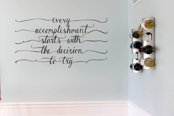 Accomplishment' motivational wall sticker in  by Vinyl Impression
