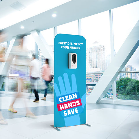 Automatic Hand Sanitiser Dispenser Stand with Custom Print