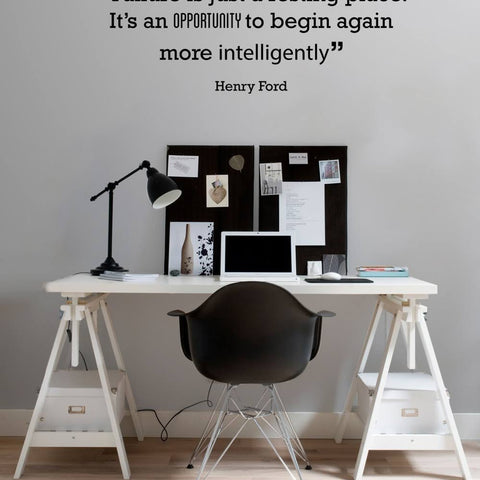 Failure is just a resting place Henry Ford phrase wall art sticker decal