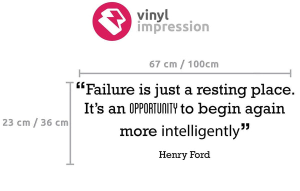 Failure is just a resting place' Motivational Quote Wall Sticker in  by Vinyl Impression
