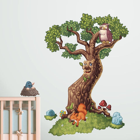 Magical and enchanted tree wall sticker decal for kids and children's bedrooms.