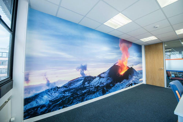 Premium Volcano Wall Mural (Laminated) in Office by Vinyl Impression