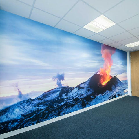 Example of the Volcano wall mural