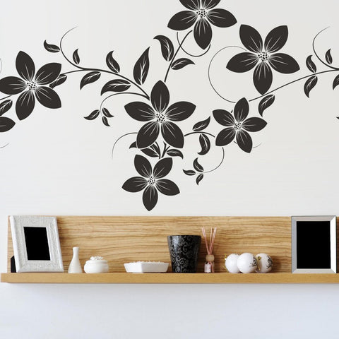 Flowers on a vine Wall Sticker - By Vinyl Impression
