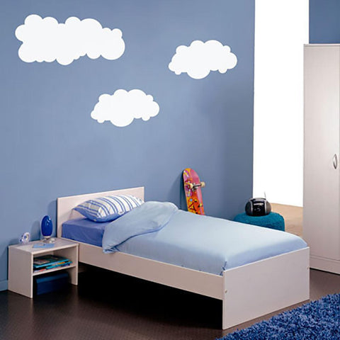 Fluffy Clouds wall sticker for kids bedroom designs.