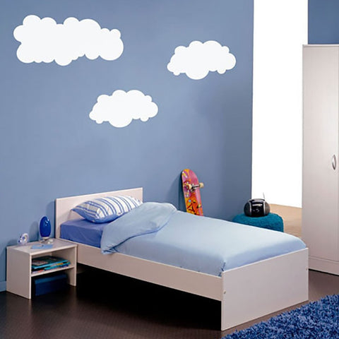 Boys bedroom wall sticker, clouds wall graphic