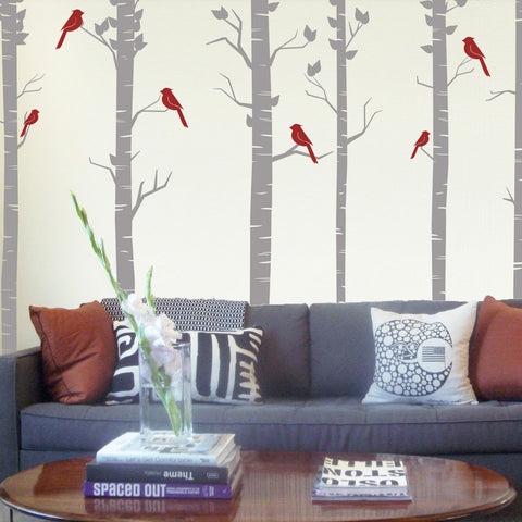 Forest of birch trees Wall Sticker - By Vinyl Impression