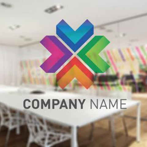 Company logo window sticker manifestation graphic