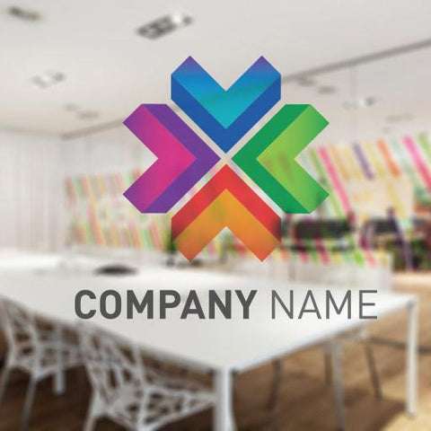 Printed Logo Window Decal for office windows