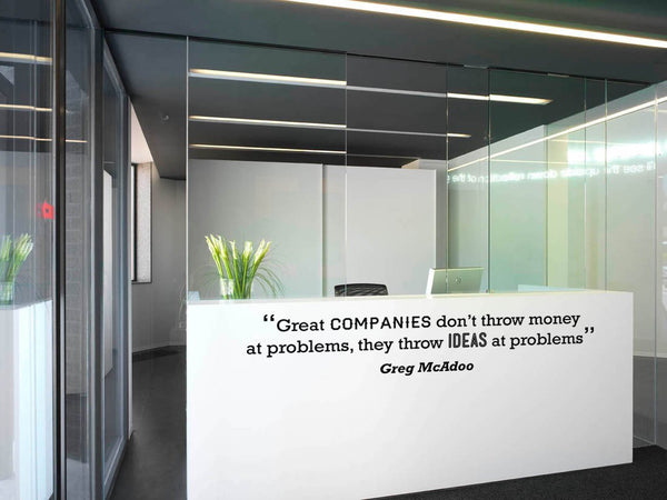 Great Companies' Motivational Quote Wall Sticker in  by Vinyl Impression