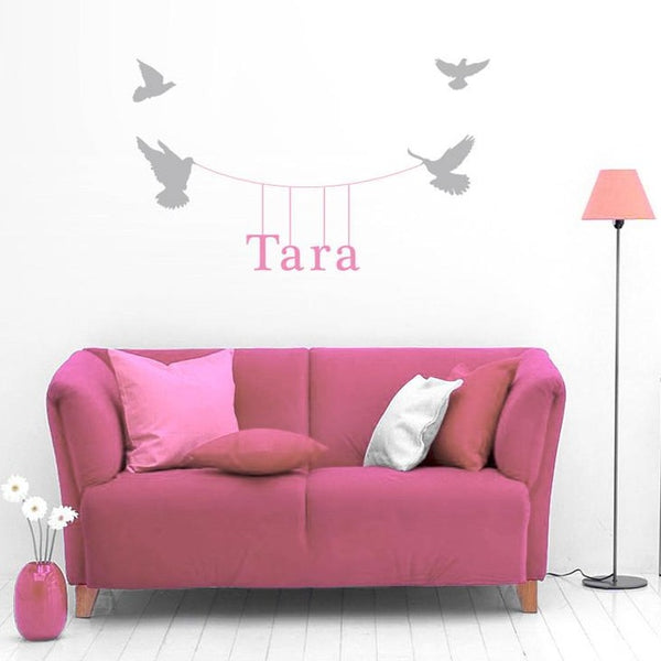 Hanging name vinyl Wall Sticker in Home by Vinyl Impression